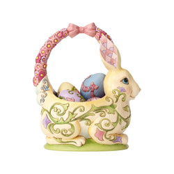 Bunny Basket with 4 Eggs  - Country N More Gifts