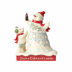 Coca-Cola Snowman & Baby Bear  - Country N More Gifts