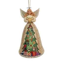 Angel with Christmas Tree Skirt Hanging Ornament  - Country N More Gifts