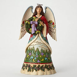 Angel with Evergreen Wreath  - Country N More Gifts