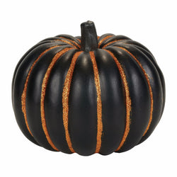 Black and Orange Vert Stripe Pumpkin  - Country N More Gifts