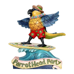 ParrotHead Party - Margaritaville Surfing Parrot  - Country N More Gifts