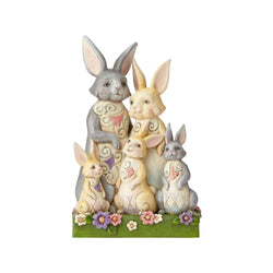 Hares To Family - Bunny Family  - Country N More Gifts