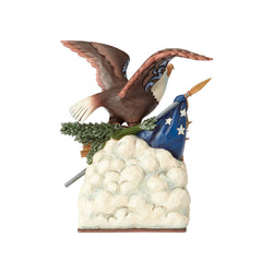 Long Live Liberty - Eagle Holding Flag Musical  - Country N More Gifts
