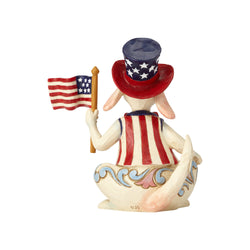 Uncle Sam's Best Friend - Pint Size Patriotic Dog w/Flag  - Country N More Gifts
