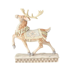 White Woodland Reindeer Prance  - Country N More Gifts