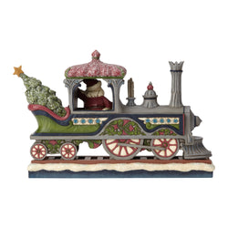 Delivering A Merry Christmas - Victorian Santa in Train  - Country N More Gifts