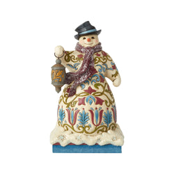 Victorian Snowman with Lantern  - Country N More Gifts