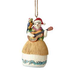 Snowman with Guitar - Margaritaville Ornament  - Country N More Gifts