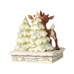 Rudolph And Clarice By Trees  - Country N More Gifts