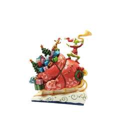 Grinch On Sleigh  - Country N More Gifts