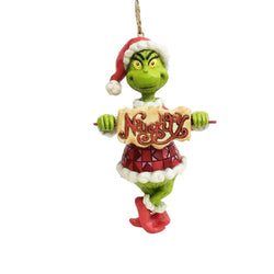 Grinch With Naughty And Nice Spinner Sign - Grinch with Naughty Nice Sign  - Country N More Gifts