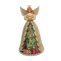 Angel With Christmas Tree Skirt Figurine  - Country N More Gifts
