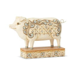 White Farmhouse Pig  - Country N More Gifts