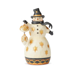 Be Merry, Be Bright - Black & Gold Snowman With Ornament  - Country N More Gifts