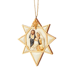 Black & Gold Nativity Star Ornament  - Country N More Gifts