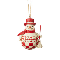 Nordic Noel Snowman Ornament  - Country N More Gifts