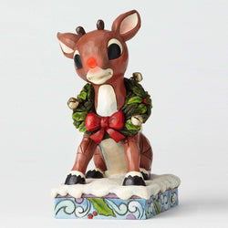 Lighted Rudolph with Wreath  - Country N More Gifts