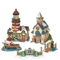 2018 New England Village - All New Buildings And Accessories  - Country N More Gifts