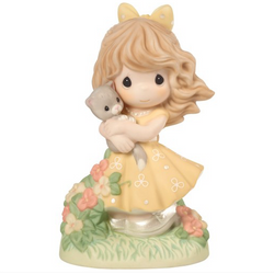 2018 Precious Moments Collectors' Club, Symbol of Membership, Loving Every Precious Moment With You, Bisque Porcelain Figurine  - Country N More Gifts
