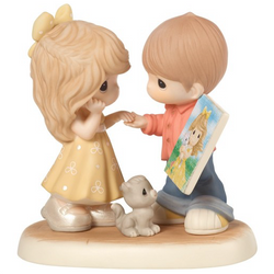 Sharing The Precious Moments We Make Together - Collectors Club, Members only, Bisque Porcelain  - Country N More Gifts