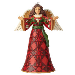 Delight In The Good News - Burgundy and Gold Angel Figurine  - Country N More Gifts