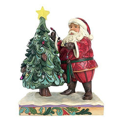 Jim Shore Heartwood Creek Figurine Santa Decorating Tree  - Country N More Gifts
