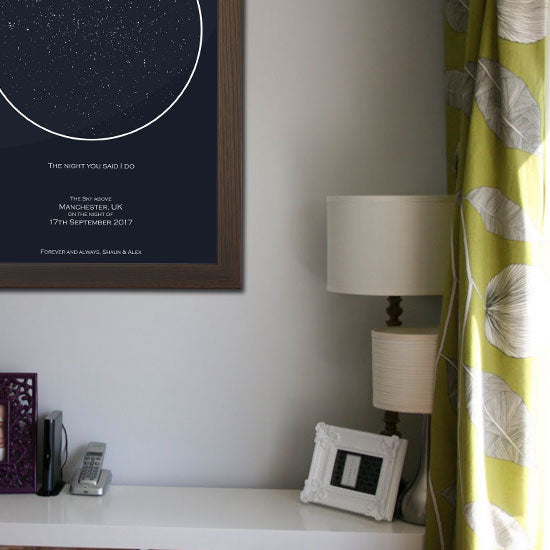 Capture the night you never want to forget with a Personalised Star Map
