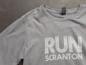 Unisex Run Scranton Long Sleeve Crewneck in Grey