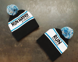 Run Scranton Brooks Run Happy Pom Pom Beanies