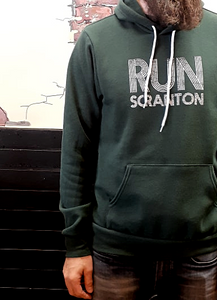 Unisex Run Scranton Hoodie in Forest Green