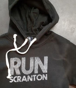 Unisex Run Scranton Hoodie in Black