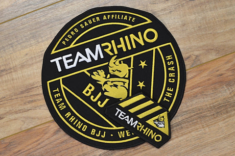Team Rhino Gold Circle Patch Set