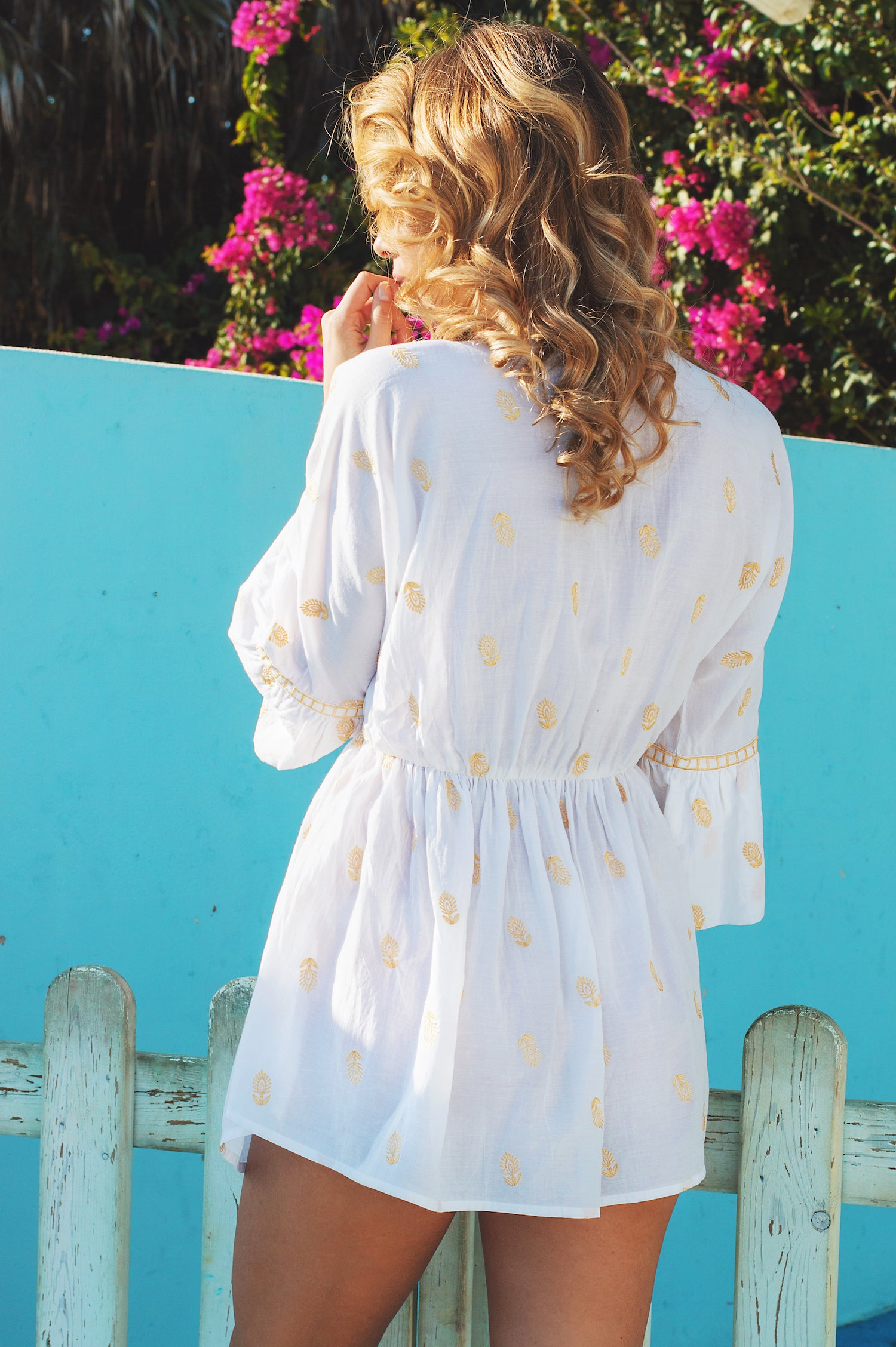 Maravilloso designer kaftan cotton top/ beach cover up - Guilty Beach