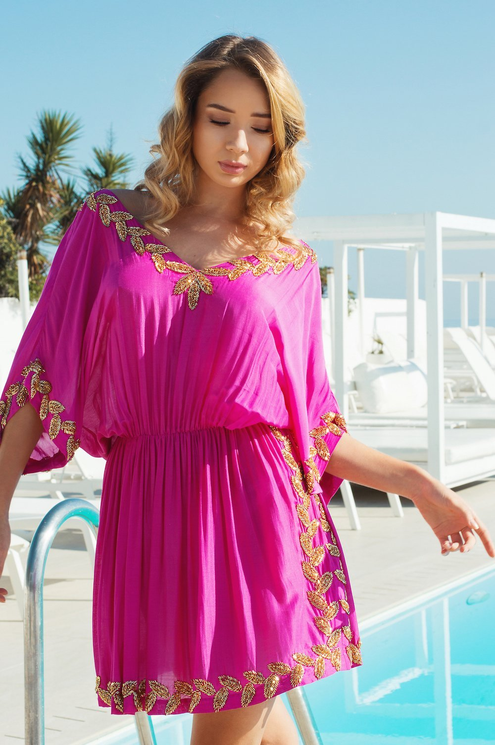 Aloha designer kaftan/dress (hand beaded) - Guilty Beach