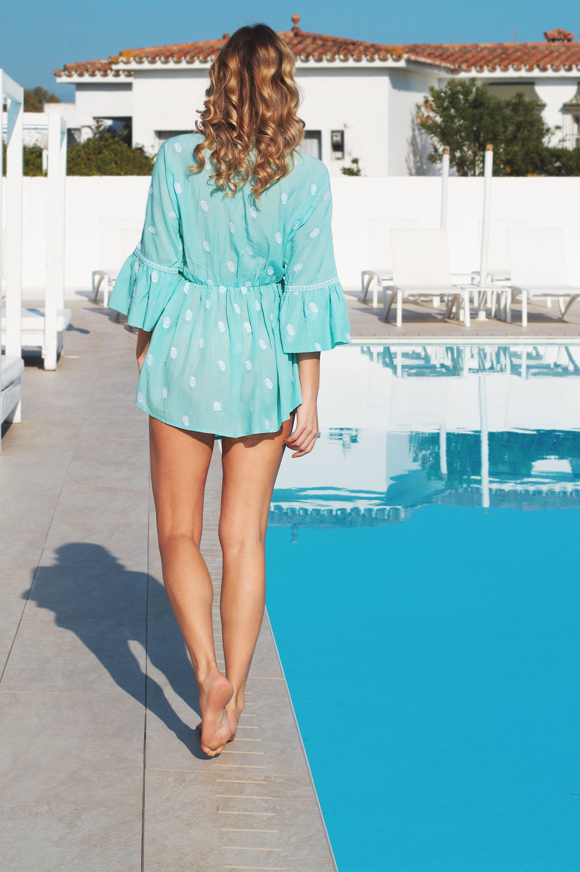 Marbella designer kaftan cotton top/ beach cover up - Guilty Beach