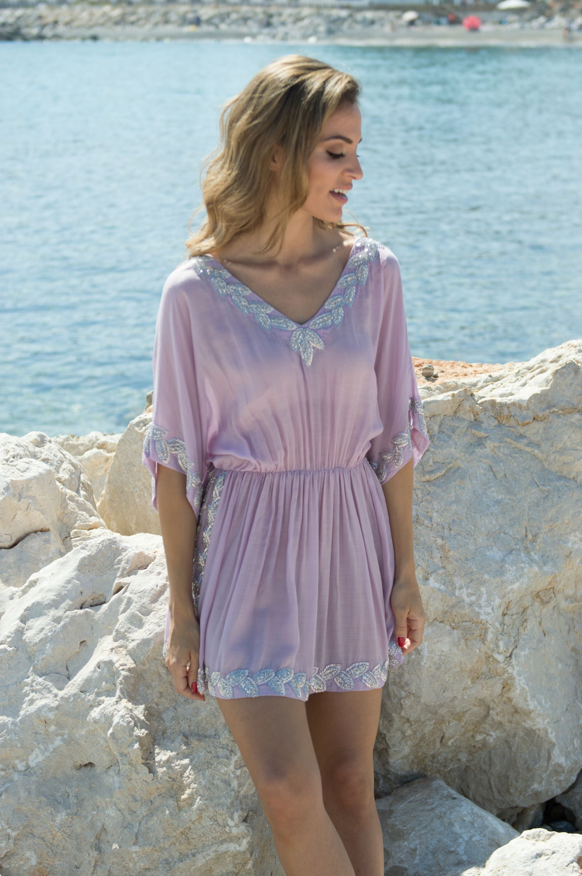 Buena designer kaftan/dress (hand beaded) - Guilty Beach