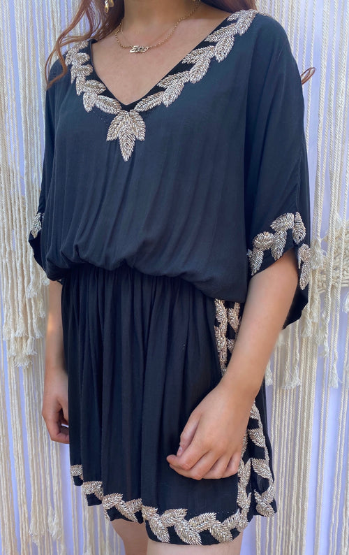 Oceano designer kaftan/dress (hand beaded)