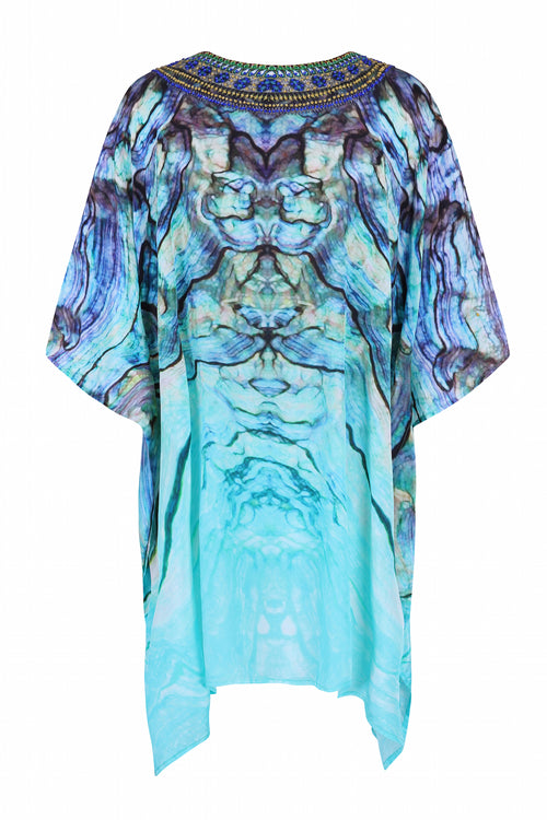 Blue shell printed kaftan - Guilty Beach