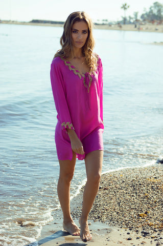 Aloha designer kaftan/dress (hand beaded)