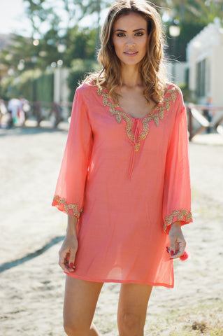 Estepona lace cotton beach dress