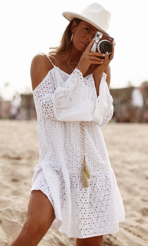 Estepona lace cotton beach dress - Guilty Beach