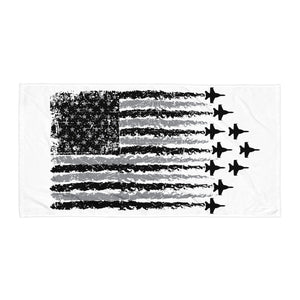 America and Fighter Jets Towel