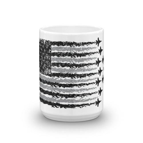 America & Fighter Jets Coffee Mug made in the USA