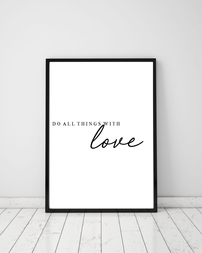 Do all things with love - Papercut Prints