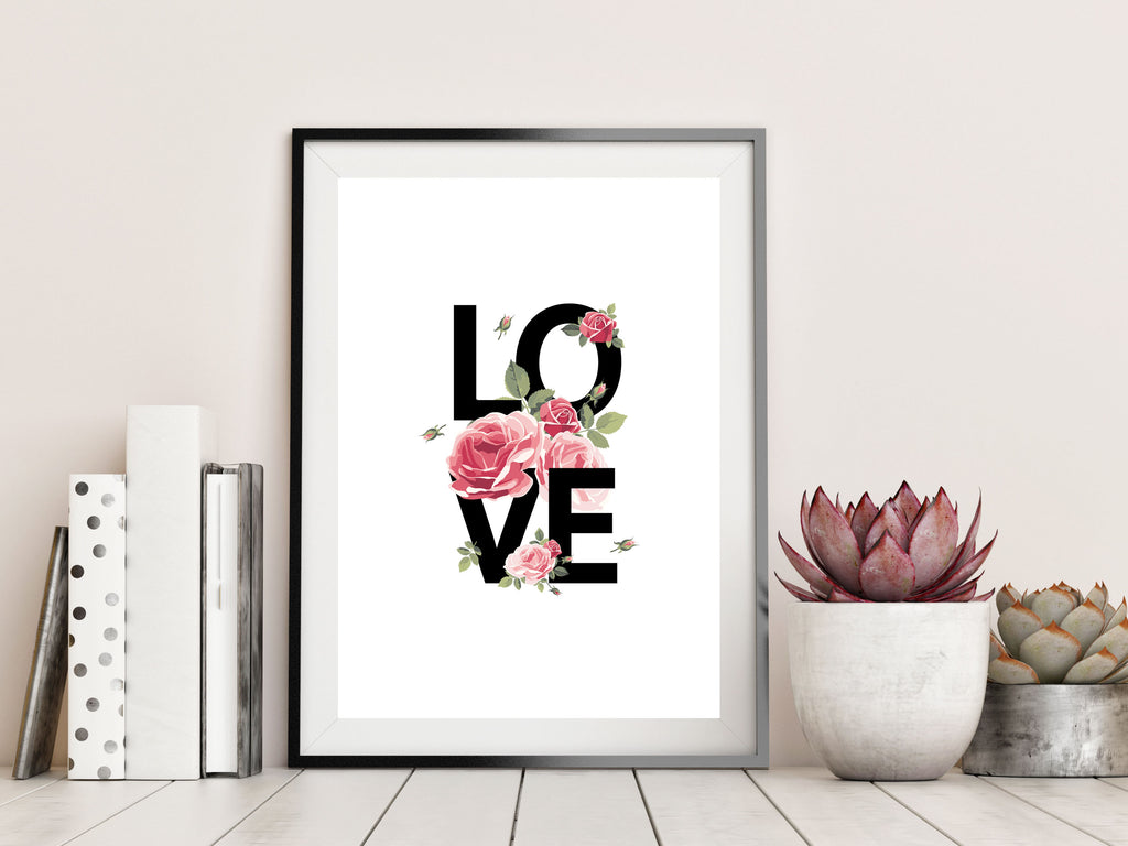 LOVE FLORAL - Papercut Prints