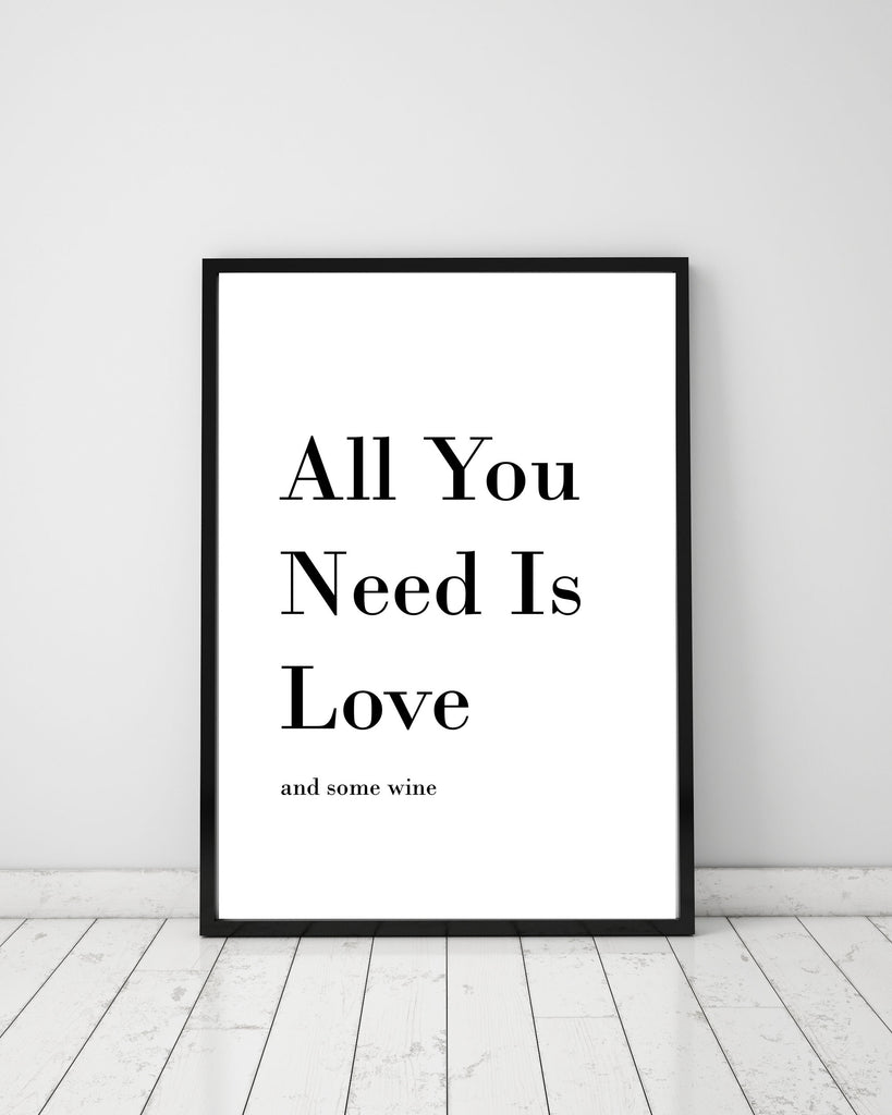 All You Need Is Love - Papercut Prints