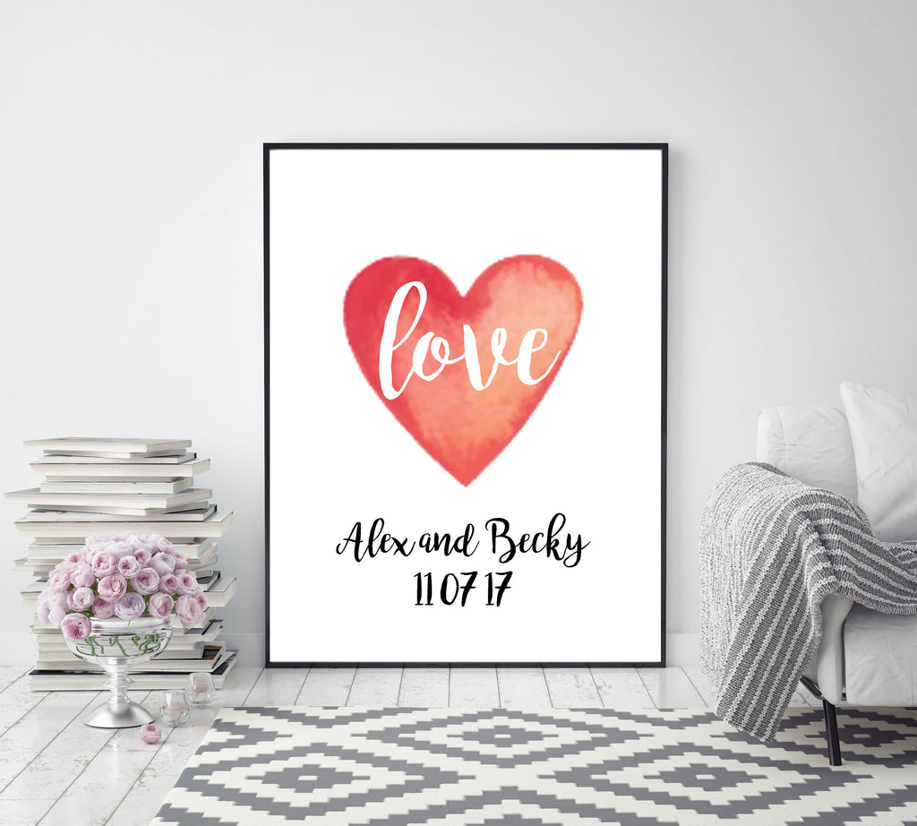 Anniversary love heart - Papercut Prints