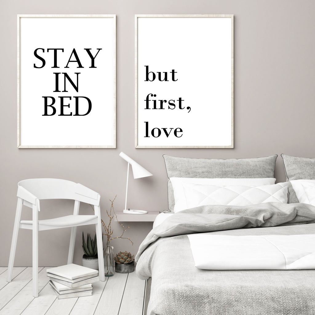 Stay in bed - Papercut Prints