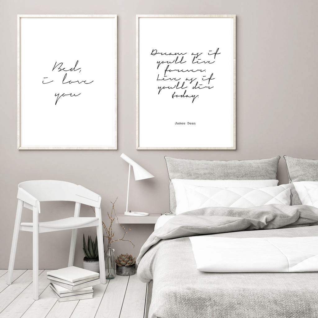 Bed, I love you - Papercut Prints
